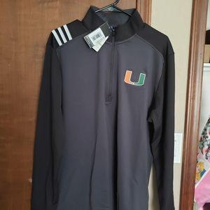 University of Miami Half Zip Pullover